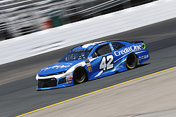 July 20, 2018 - Loudon, New Hampshire, United States of America - Kyle Larson (42) takes to the track to practice for the Foxwoods Resort Casino 301 at New Hampshire Motor Speedway in Loudon, New Hampshire. (Credit Image: © Justin R. Noe Asp Inc/ASP via ZUMA Wire)