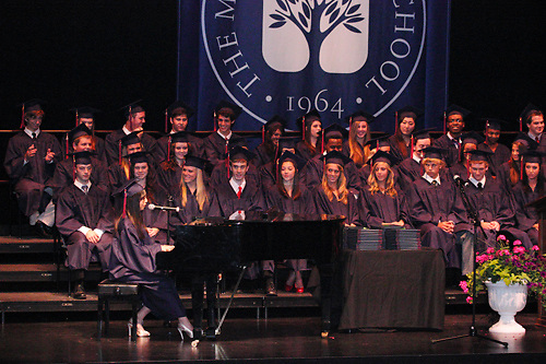 Lauren Yu performs during the Miami Valley School 39th annual commencement at the Victoria Theatre in downtown Dayton, June 7, 2012.