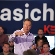 Republican Presidential candidate John Kasich attends a rally in Burlington, Wisconsin Saturday April 2, 2016. <br /> Photography by Jose More