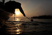 Thomas Gonzales crab fishing in Delacroix, LA on November 12, 2010.