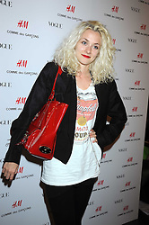 Model PORTIA FREEMAN at a preview of the H&M Comme des Garcons collection held at H&M Regent Stret, London on 12th November 2008.