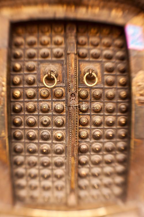 Temple doors in Patan's Durbar Square.