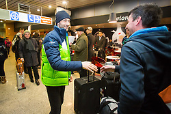 Jakov Fak during Arrival of Jakov Fak, Silver medalist at Olympic Games in Pyeongchang 2018, on February 25, 2018 in Aerodrom Ljubljana, Letalisce Jozeta Pucnika, Kranj, Slovenia. Photo by Ziga Zupan / Sportida