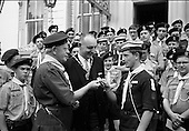 1967 - Scouts meet the Lord Mayor of Dublin at the Mansion House