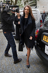 """© Licensed to London News Pictures. 26/04/2017. London, UK. Gina Miller arrives for the Launch of the Best for Britain initiative. Ms Miller's campaign aims to endorse various candidates in the general election who support it's proposal for a """"meaningful"""" vote by MPs at the end of the UK's EU Brexit negotiations. Photo credit: Peter Macdiarmid/LNP"""