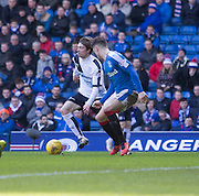 Dundee&rsquo;s Craig Wighton and Rangers&rsquo; Rob Kiernan - Rangers v Dundee, William Hill Scottish Cup quarter final at Ibrox Park<br /> <br />  - &copy; David Young - www.davidyoungphoto.co.uk - email: davidyoungphoto@gmail.com
