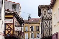 France, Villeneuve-sur-Lot. Old town by the Lot River.