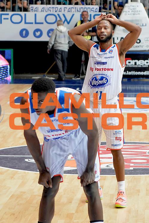 DESCRIZIONE : Cantu, Lega A 2015-16 Acqua Vitasnella Cantu' Enel Brindisi<br /> GIOCATORE : Kenny Hasbrouck<br /> CATEGORIA : Delusione<br /> SQUADRA : Acqua Vitasnella Cantu'<br /> EVENTO : Campionato Lega A 2015-2016<br /> GARA : Acqua Vitasnella Cantu' Enel Brindisi<br /> DATA : 31/10/2015<br /> SPORT : Pallacanestro <br /> AUTORE : Agenzia Ciamillo-Castoria/I.Mancini<br /> Galleria : Lega Basket A 2015-2016  <br /> Fotonotizia : Cantu'  Lega A 2015-16 Acqua Vitasnella Cantu'  Enel Brindisi<br /> Predefinita :