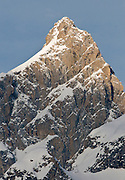 The north face of the Grand Teton, Teton National Park, Wyoming