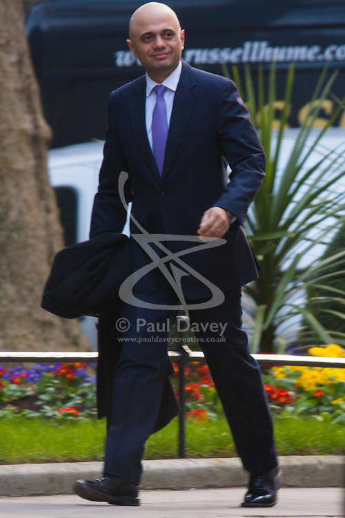 London, March 18th 2015. Members of the Cabinet gather at Downing street for their weekly meeting. PICTURED: Sajid Javid MP, Secretary of State for Culture, Media and Sport
