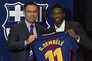 Ousmane Dembele joins FC Barcelona - 28 Aug 2017