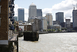 © Licensed to London News Pictures. 07/06/2017. London, UK. The scene where the body of a man was recovered from the River Thames, near Limehouse, east London. Detectives were appealing for information about Xavier Thomas, 45, a French national who had not been seen since the night of the terrorist attack on London Bridge. Three men attacked members of the public after a white van rammed pedestrians on London Bridge. Photo credit: Tolga Akmen/LNP