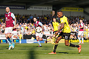 Burton Albion midfielder Lloyd Dyer (11) scores a goal 1-1 during the EFL Sky Bet Championship match between Burton Albion and Aston Villa at the Pirelli Stadium, Burton upon Trent, England on 8 April 2017. Photo by Richard Holmes.