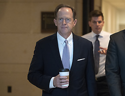 October 4, 2018 - Washington, District of Columbia, U.S. - United States Senator Pat Toomey (Republican of Pennsylvania) arrives to visit the US Senate Sensitive Compartmented Information Facilities (SCIF) in the US Capitol in Washington, DC to view the latest FBI report on Judge Brett Kavanaugh on Thursday, October 4, 2018. .Credit: Ron Sachs / CNP.(RESTRICTION: NO New York or New Jersey Newspapers or newspapers within a 75 mile radius of New York City) (Credit Image: © Ron Sachs/CNP via ZUMA Wire)