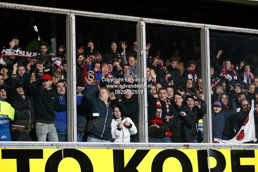 ALKMAAR - 29-11-2014 - Cambuur - AZ,  Cambuur Stadion, 0-2, AZ supporters in het uitvak.