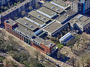 Nederland, Noord-Holland, Amsterdam, 23-03-2020; Onze Lieve Vrouwe Gasthuis (OLVG), OLVG-Oost. Het enige (en grootste) algemene ziekenhuis in de binnenstad van Amsterdam. Het ziekenhuis is druk bezig de capaciteit uit te breiden ivm met de verwachte toevloed van Corona patiënten. <br /> Onze Lieve Vrouwe Gasthuis (OLVG), OLVG-East. The only (and largest) general hospital in the city center of Amsterdam. The hospital is busy expanding its capacity due to the expected influx of Corona patients.<br /> <br /> luchtfoto (toeslag op standaard tarieven);<br /> aerial photo (additional fee required)<br /> copyright © 2020 foto/photo Siebe Swart