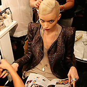 Milan, Italy, September 22, 2010. Backstage at Gucci during the Milan Women's Fashion Week Spring/Summer 2011.