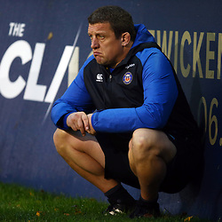 Toby Booth (First Team Coach) of Bath Rugby during the Gallagher Premiership match between Bath Rugby and Sale Sharks at the The Recreation Ground Bath England.2nd December 2018,(Photo by Steve Haag Sports)