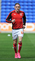 Fleetwood Town's Declan McManus warms up<br /> <br /> Photographer Dave Howarth/CameraSport<br /> <br /> Football - The Football League Sky Bet League One - Oldham Athletic v Fleetwood Town - Saturday 15th August 2015 - SportsDirect.com Park - Oldham<br /> <br /> © CameraSport - 43 Linden Ave. Countesthorpe. Leicester. England. LE8 5PG - Tel: +44 (0) 116 277 4147 - admin@camerasport.com - www.camerasport.com