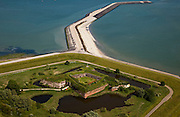 Nederland, Zeeland, Vlissingen, 12-06-2009; Ritthem, Fort Rammekens, zeefort midden in natuurgebied.luchtfoto (toeslag), aerial photo (additional fee required).foto/photo Siebe Swart