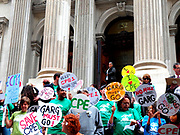 Over a hundred attended the Protest at Tweed Courthouse as Parents, Teachers and Students from the Historic East Harlem School Protest the Principal's Attack on Progressive Education. They want to defend progressive education and demand that the Department of Education listen to the voices of the parents and staff at CPE 1.