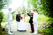 Steven Warner and Kristen Berry get married at Brentwood in White Lake, Michigan.