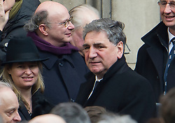 © London News Pictures. 13/02/2014. London, UK. Actor Jim Carter after the service.  The funeral of actor Roger Lloyd-Pack at St Pauls Church also known as 'The Actor's Church'  in Covent Garden, London. Roger Lloyd-Pack was famous for playing roles such as Trigger in Only Fools and Horses and Owen Newitt in the The Vicar of Dibley. Photo credit : Ben Cawthra/LNP