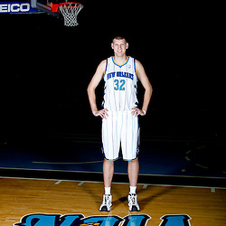 December 14, 2011; New Orleans, LA, USA; New Orleans Hornets center Brian Butch (32) poses for a photo during Media Day at the New Orleans Arena.   Mandatory Credit: Derick E. Hingle-US PRESSWIRE