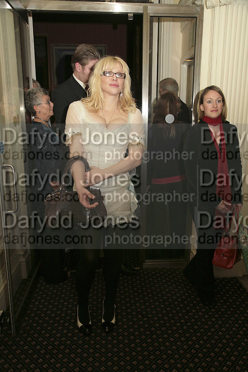 COURTNEY LOVE, Literary Review's Bad Sex In Fiction Prize.  In &amp; Out Club (The Naval &amp; Military Club), 4 St James's Square, London, SW1, 29 November 2006. <br />
