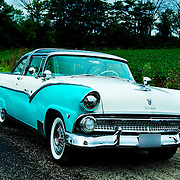 1955 Ford  Fairlane Crown Victoria on pavement