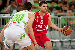 Nemanja Vidovic of Serbia during friendly basketball match between National teams of Slovenia and Serbia of Adecco Ex-Yu Cup 2012 as part of exhibition games 2012, on August 5, 2012, in Arena Stozice, Ljubljana, Slovenia. (Photo by Urban Urbanc / Sportida)