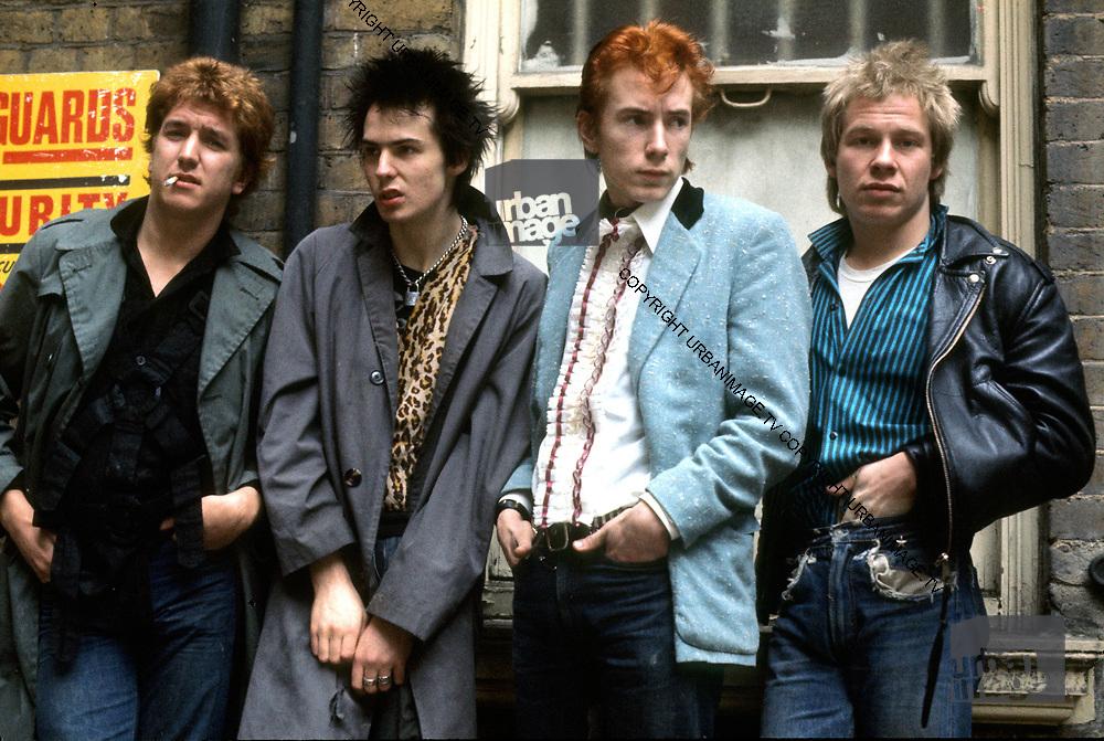 The Sex Pistols - London Oxford Street Glitterbest photosession - 1977