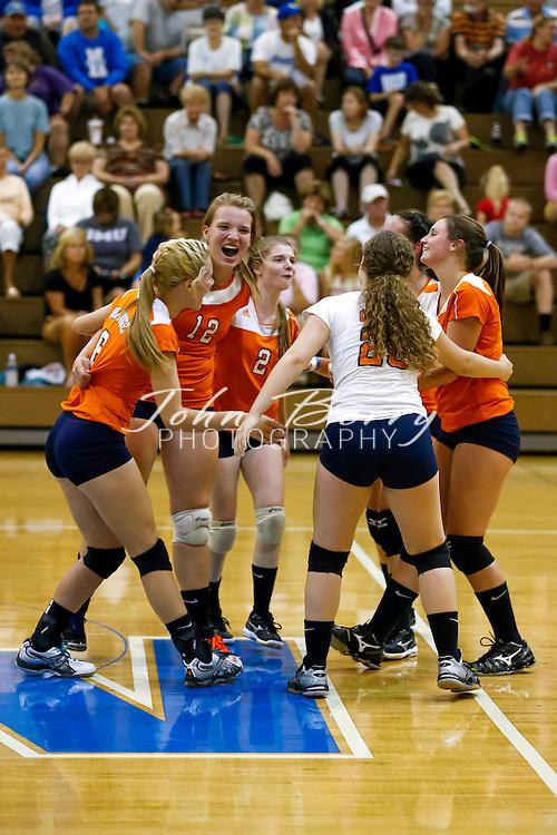 August/26/13:   MCHS Varsity Volleyball vs Orange.  Madison wins 3-0 (25-21, 25-12, 25-23).