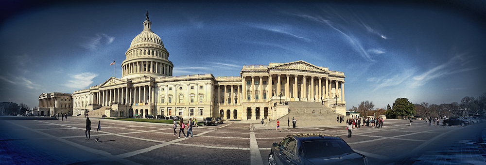 Washington D.C. photographs; U.S. Capitol panoramic photography;