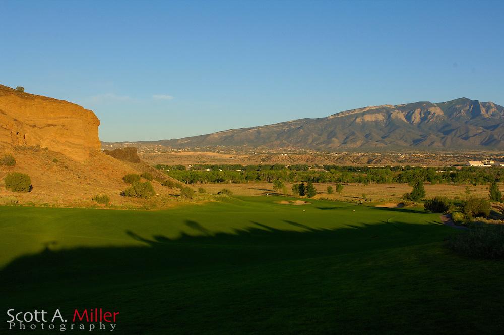 Albuquerque, N.M.:  July 9, 2006 -  No. 16 on the Twin Warriors Golf Club in Santa Ana Pueblo, N.M...                ©2006 Scott A. Miller