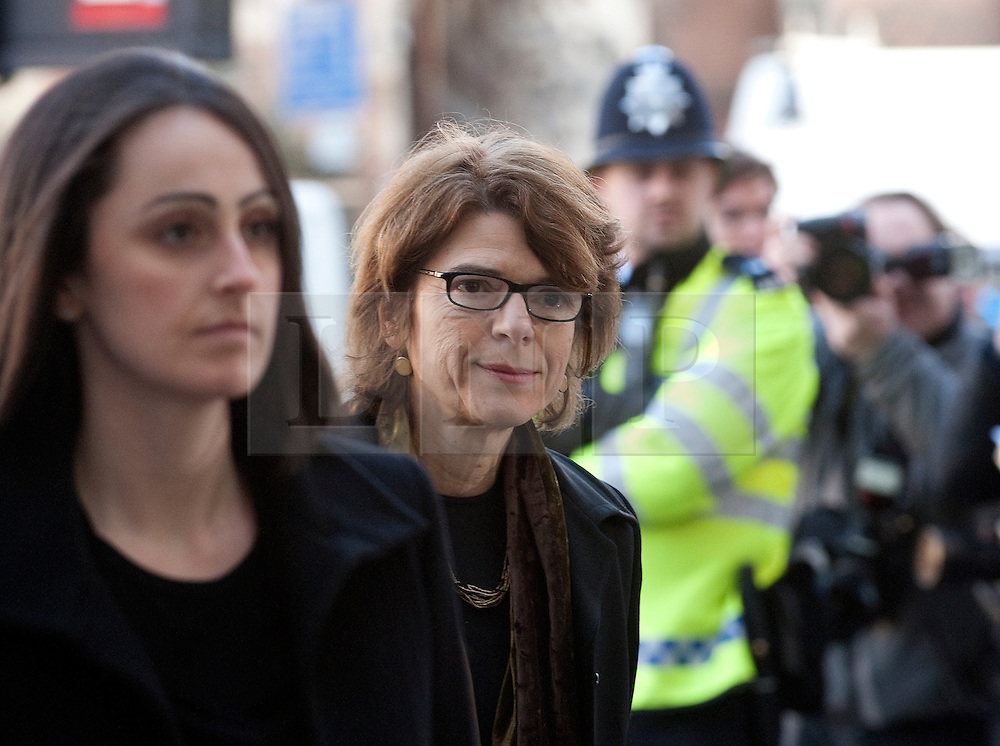 © Licensed to London News Pictures. 16/02/2012. London, UK. VICKY PRYCE (centre)  arriving at Westminster Magistrates court in London on February 16th, 2012 where she and her ex husband, Liberal Democrat MP CHRIS HUHNE,  face charges of perverting the course of justice. Former Energy Secretary CHRIS HUHNE is accused of asking his ex-wife VICKY PRYCE to take speeding points on his behalf in 2003. Photo credit : Ben Cawthra/LNP