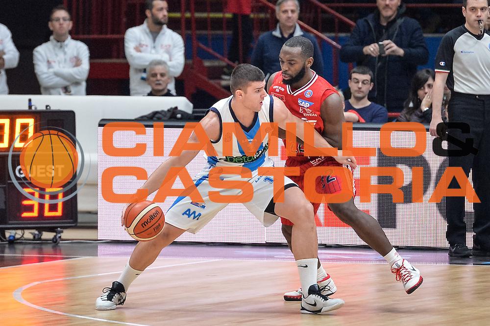 DESCRIZIONE : Milano Lega A 2015-16 <br /> GIOCATORE : Stojanovic Vojislav<br /> CATEGORIA : Palleggio Controcampo<br /> SQUADRA : Betaland Capo d'Orlando<br /> EVENTO : Campionato Lega A 2015-2016<br /> GARA : Olimpia EA7 Emporio Armani Milano Betaland Capo d'Orlando<br /> DATA : 13/12/2015<br /> SPORT : Pallacanestro<br /> AUTORE : Agenzia Ciamillo-Castoria/M.Ozbot<br /> Galleria : Lega Basket A 2015-2016 <br /> Fotonotizia: Milano Lega A 2015-16