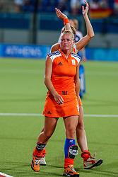 27-08-2004 GRE: Olympic Games day 14, Athens<br /> Hockey finale vrouwen Nederland - Duitsland 1-2 / Minke Booij