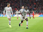 Sadio Mane celebrates his goal during the Champions League round of 16, leg 2 of 2 match between Bayern Munich and Liverpool at the Allianz Arena stadium, Munich, Germany on 13 March 2019.