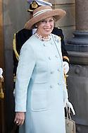 14.04.11. Copenhagen, Denmark.Princess Benedikte leaves the Holmens Church after christening ceremony.Photo: Ricardo Ramirez