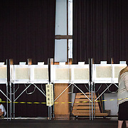 TOKYO, JAPAN - JULY 10 : Voters cast their ballots to vote for parliament's upper house election at a polling station in Tokyo, Japan on Sunday, July 10, 2016. The revised law has expanded the electorate by 2.4 million people aged 18 and 19, and is designed to give more political say to younger generations. The first Upper house election nation-wide in Japan that 18 years old can vote after government law changes its voting age from 20 years old to 18 years old. (Photo by Richard Atrero de Guzman/NUR Photo)