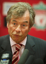 LIVERPOOL, ENGLAND - Thursday, July 1, 2010: Liverpool Football Club's Chairman Martin Broughton during a press conference at Anfield. (Pic by David Rawcliffe/Propaganda)