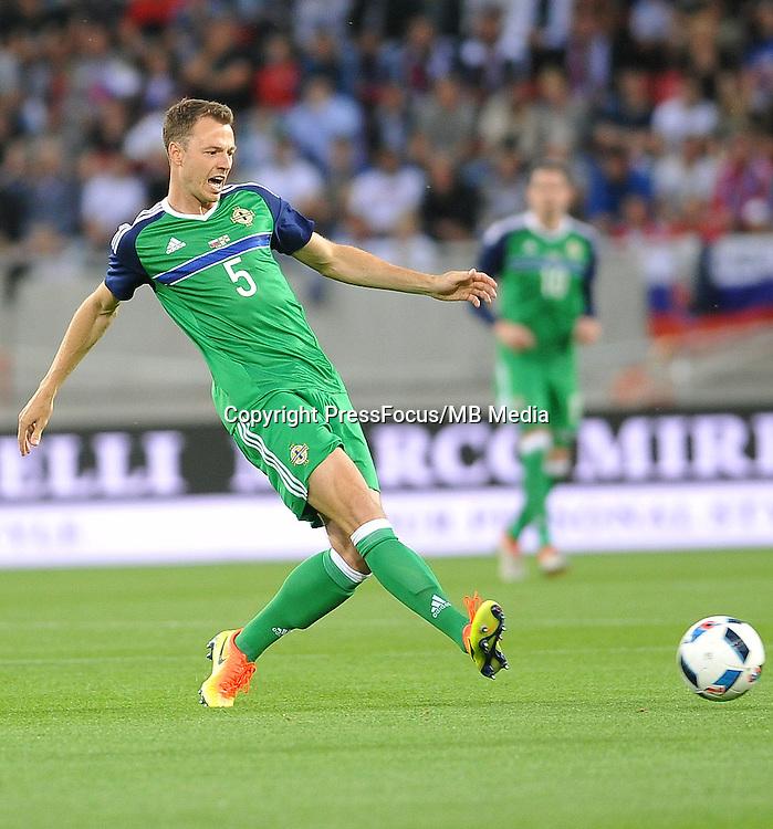 2016.06.04 Trnava, Slowacja<br /> Pilka Nozna Reprezentacja Mecz towarzyski<br /> Slowacja - Irlandia Polnocna <br /> N/z Jonny Evans<br /> Foto Rafal Rusek / PressFocus<br /> <br /> 2016.06.04 Trnava, Slovakia<br /> Football Friendly Game<br /> Slovakia - Northern Ireland<br /> Jonny Evans<br /> Credit: Rafal Rusek / PressFocus