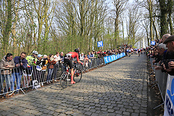 Cees Bol (NED) Team Sunweb on the 2nd ascent of the Kemmelberg during the 2019 Gent-Wevelgem in Flanders Fields running 252km from Deinze to Wevelgem, Belgium. 31st March 2019.<br /> Picture: Eoin Clarke | Cyclefile<br /> <br /> All photos usage must carry mandatory copyright credit (© Cyclefile | Eoin Clarke)