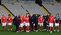 Fifa Womans World Cup Canada 2015 - Preview //<br /> Cyprus Cup 2015 Tournament ( Gsp Stadium Nicosia - Cyprus ) - <br /> Australia vs England 0-3   // Players of England , celebrates after the match for the victory