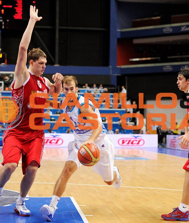 DESCRIZIONE : Vilnius Lithuania Lituania Eurobasket Men 2011 Second Round Grecia Russia Greece Russia<br /> GIOCATORE : Nick Calathes<br /> SQUADRA : Grecia Greece<br /> EVENTO : Eurobasket Men 2011<br /> GARA : Grecia Russia Greece Russia<br /> DATA : 10/09/2011<br /> CATEGORIA : palleggio<br /> SPORT : Pallacanestro <br /> AUTORE : Agenzia Ciamillo-Castoria/JF Molliere<br /> Galleria : Eurobasket Men 2011<br /> Fotonotizia : Vilnius Lithuania Lituania Eurobasket Men 2011 Second Round Grecia Russia Greece Russia<br /> Predefinita :