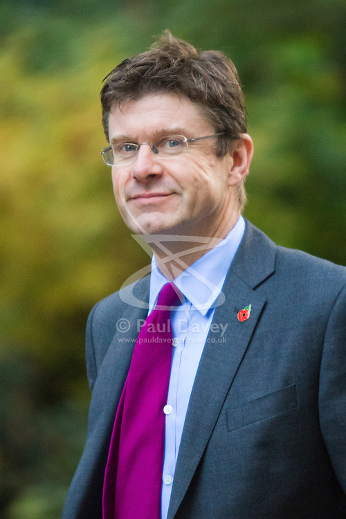 Downing Street, London, November 3rd 2015.  Communities and Local Government Secretary Greg Clark arrives at 10 Downing Street to attend the weekly cabinet meeting. /// Licencing: Paul@pauldaveycreative.co.uk Tel:07966016296 or 020 8969 6875