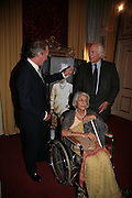 Mark Shand, The Rajmata of Jaipur and Sir Evely de Rothschild, Cartier launches Inde Mysterieuse. Lancaster House, Stable yard. St. James's. London SW1. 19 September 2007. -DO NOT ARCHIVE-© Copyright Photograph by Dafydd Jones. 248 Clapham Rd. London SW9 0PZ. Tel 0207 820 0771. www.dafjones.com.