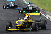 Brendon Leitch leads Taylor Cockerton and Ryan Yardley in Race 2, Round 3 of the 2018 Castrol Toyota Racing Series at Hampton Downs, Sunday January 28, 2018.<br /> Copyright photo: Bruce Jenkins / www.photosport.nz