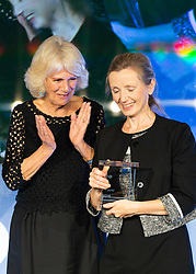 Her Royal Highness Camilla the Duchess of Cornwall XXX at the Man Booker Prize dinner at the Guildhall in London. Guildhall, London, October 16 2018.